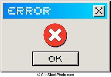 Error message - Creative design of Error message