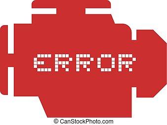 error motor symbol