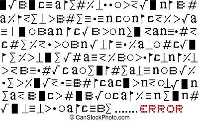 error symbols message