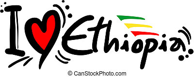 Creative design of Ethiopia love message