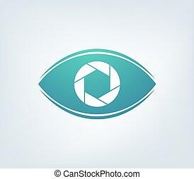 eye flat cam icon