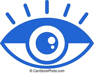 eye flat symbol