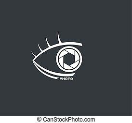 eye photo symbol