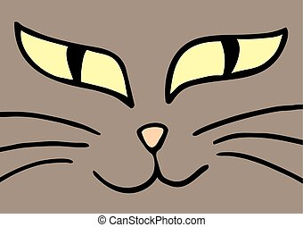 Line Drawing Cat Face : Boy face cartoon clip art vector free download