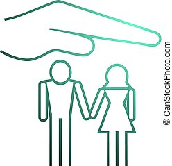 family protect symbol - Creative design of family protect...