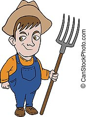 farmer man illustration