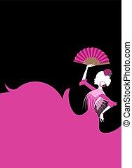 fashion spanish dancing illustration
