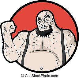 fat barbarian man