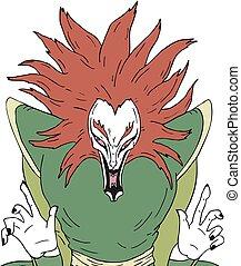 fear japanese demon - Creative design of fear japanese demon