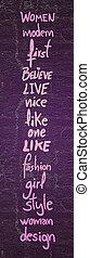 Female fashion card