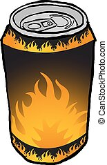 fire drink illustration
