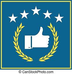 five stars like symbol