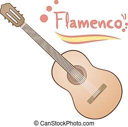 flamenco guitar draw - Creative design of flamenco guitar...