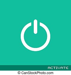 flat activate icon - Creative design of flat activate icon