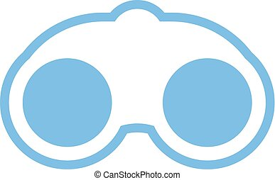 flat blue binoculars icon