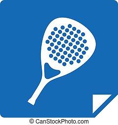 flat blue padel icon