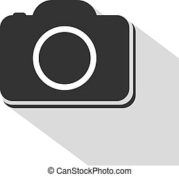 flat cam icon - Creative design of flat cam icon