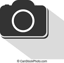 flat cam icon - Creative design of flat cam icon