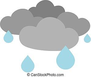flat clouds raining - Creative design of flat clouds raining