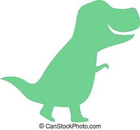 flat dinosaur draw