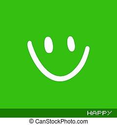 Flat happy icon