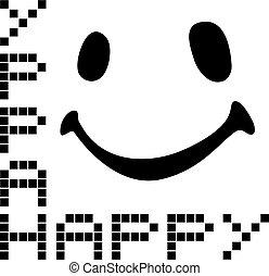 flat happy symbol