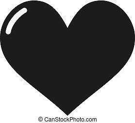 flat heart draw