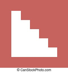 flat stairs icon