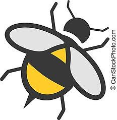 flat wasp icon draw