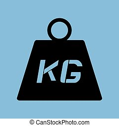 flat weight icon