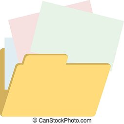 folder with color papers