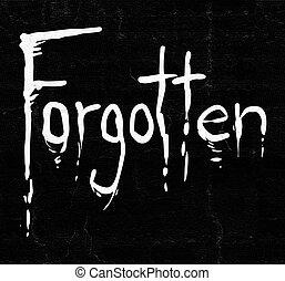 forgotten message