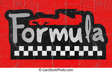 Creative design of Formula car symbol