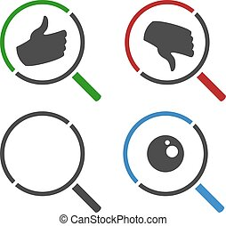 four searching symbols - Creative design of four searching...