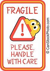 fragile advise sticker