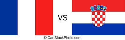 France vs Croatia - Creative design of France vs Croatia