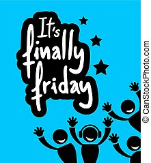 Creative design of Friday party