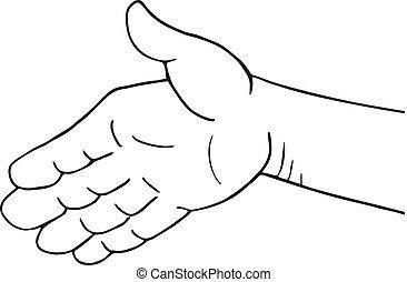 friend hand illustration