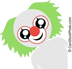 funny clown face illustration