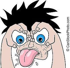 funny crazy face - Creative design of funny crazy face