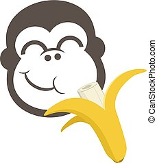 funny draw eating banana