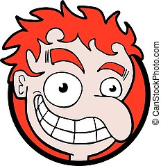 funny face with red hair