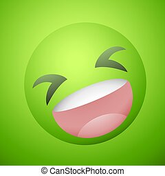 funny green face illustration