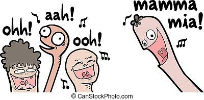Creative design of funny musical choir