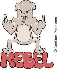 funny rebel dog illustration - Creative design of funny...