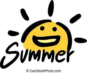 funny summer symbol