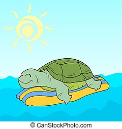 funny turtle in