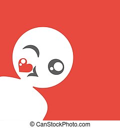 funny ugly flat face illustration