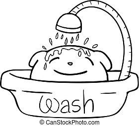 funny wash animal - Creative design of funny wash animal
