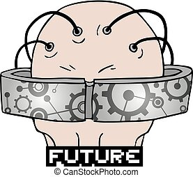 design of future glasses illustration